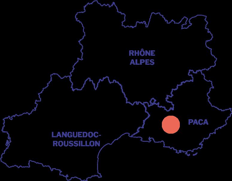 Carte de la situation du Luberon en PACA