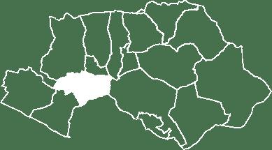 Carte du village d'Ansouis situé dans le Luberon