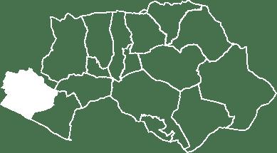 localisation du village de Cadenet sur la carte