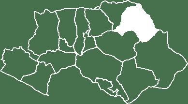 localisation du village de la Bastide des Jourdans sur la carte