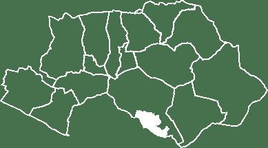 localisation du village de la Bastidonne sur la carte