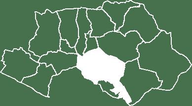 localisation du village de la Tour d'Aigues sur la carte