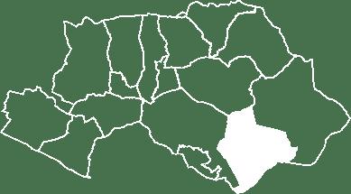 localisation du village de Mirabeau sur la carte