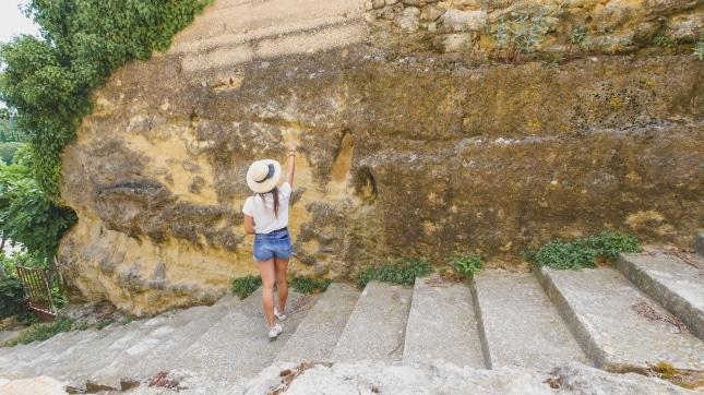 escalier des fossiles de Cabrières d'Aigues