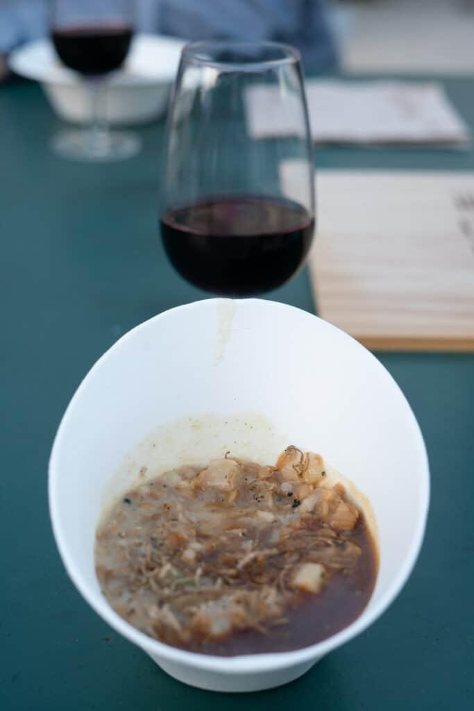 vin et truffe noire