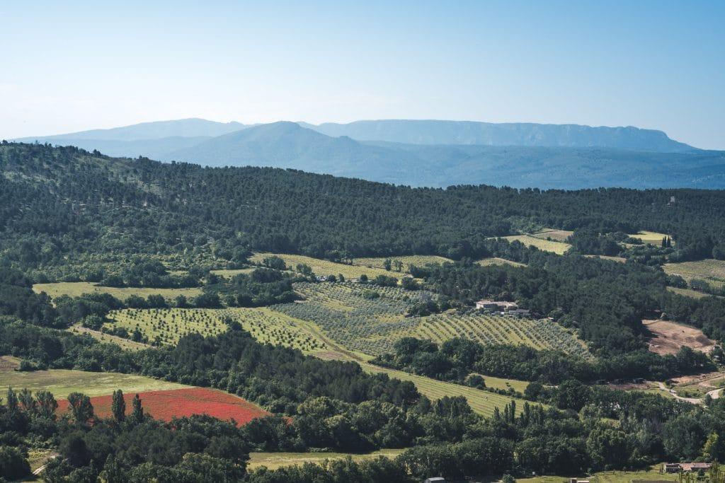 vue depuis la chapelle st Julien - La Bastidonne 84120