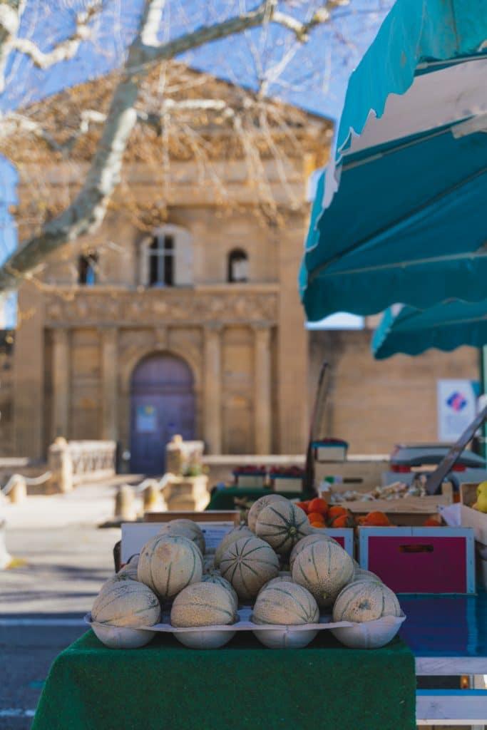 Listing des jours de marché en Sud Luberon