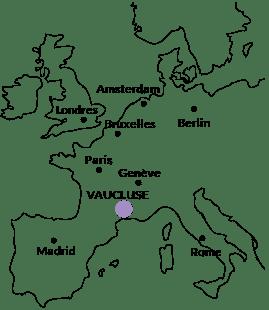 Le Vaucluse sur la carte de France et en Europe